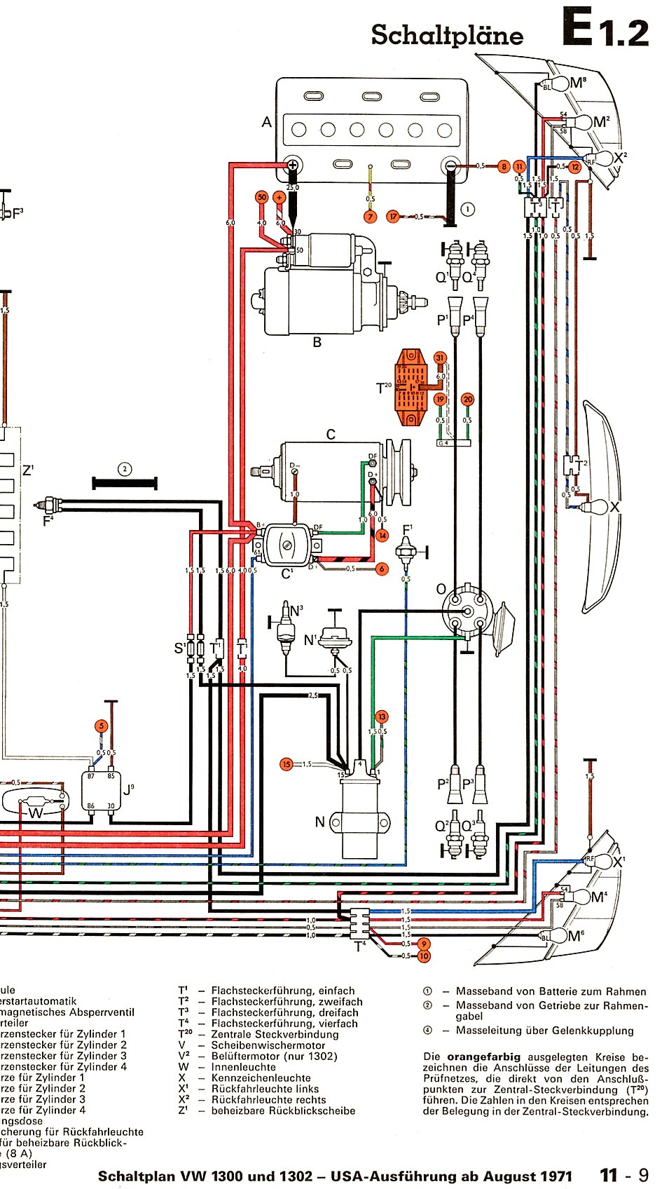 1300_and_1302_USA_from_August_1971 2 73 super beetle voltage regulator shoptalkforums com vw voltage regulator wiring diagram at gsmx.co