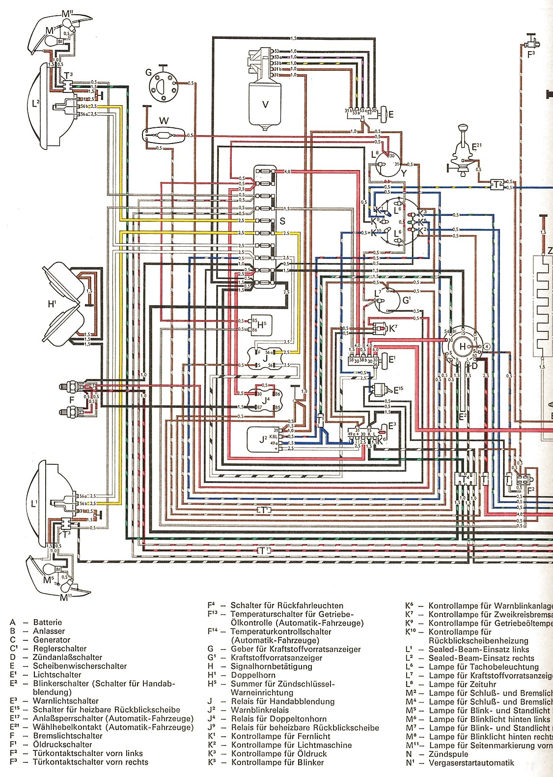 74 Charger Wiring Diagrams Library 2010 Dodge Diagram Thesamba Com Ghia View Topic Colored Rh 1974 Karmann