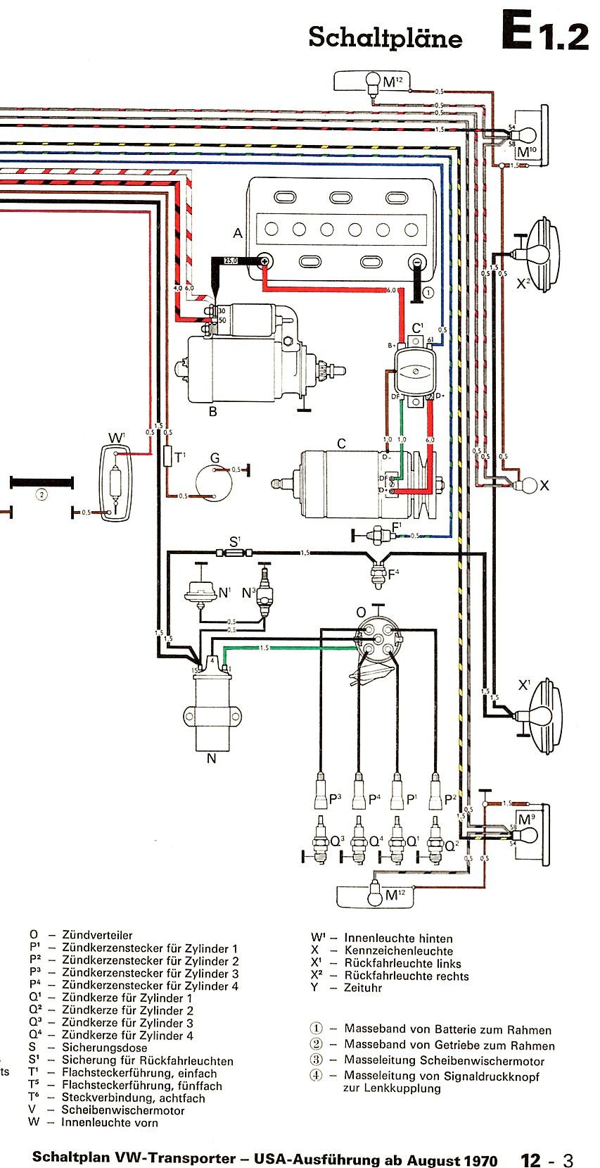 Erfreut Vw Starter Verkabelung Bilder - Schaltplan Serie Circuit ...