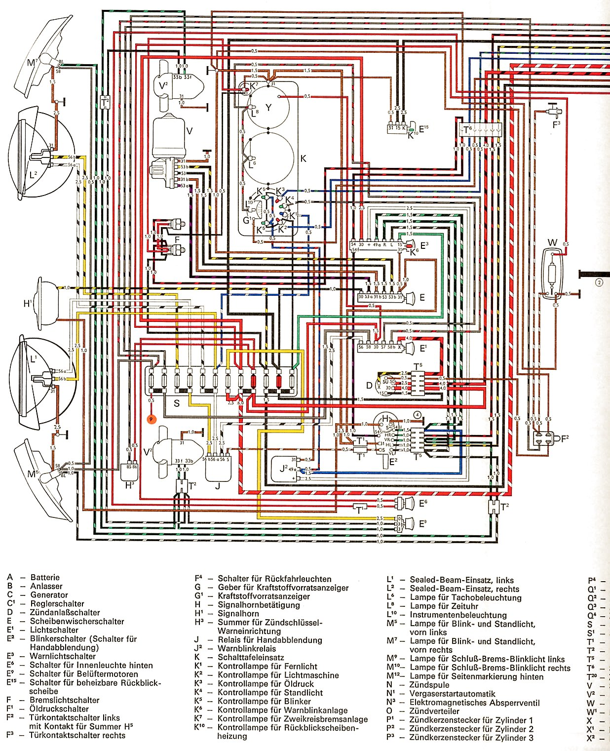 Viewtopic further High Low Dimmer Relay 12 Volt 5 Prong further Index further Type 1 Electrical Equipment likewise Elschema. on 1971 volkswagen wiring diagram