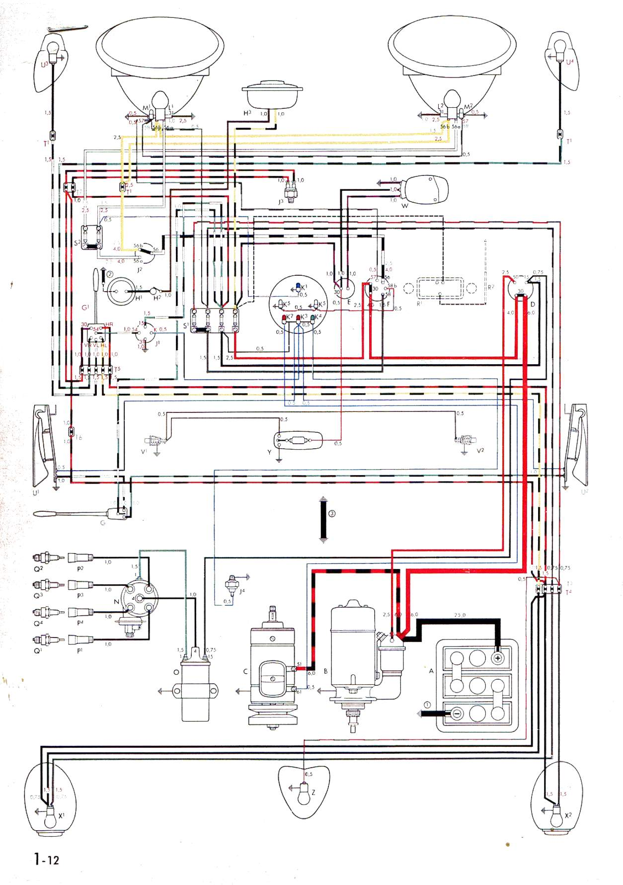 62 vw beetle wiring diagram wiring diagram
