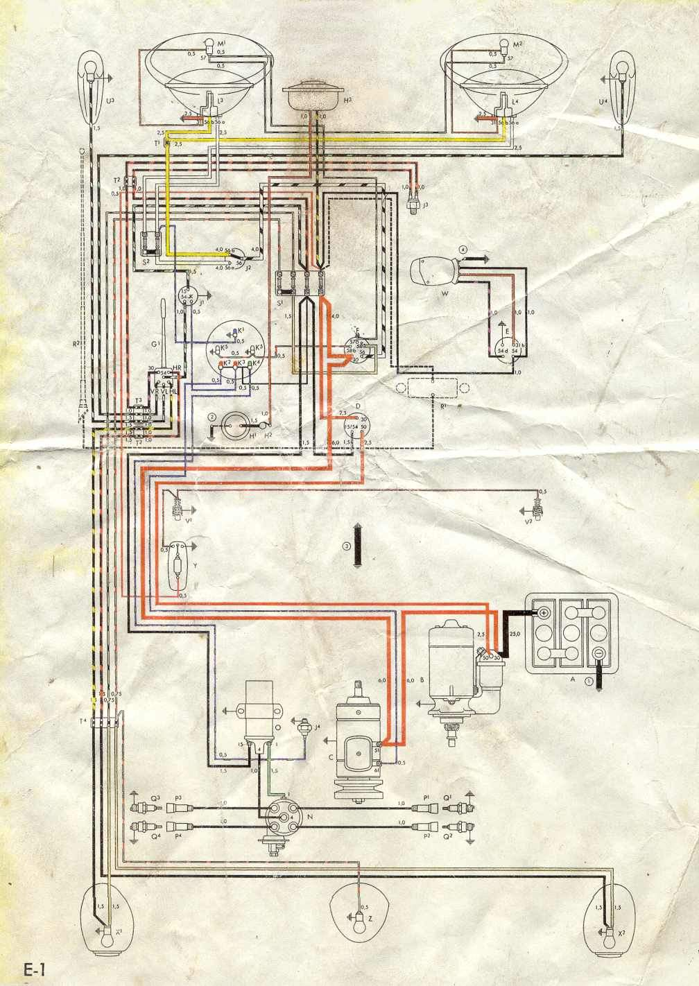 egine wireing diagram for 1959 voljswagen