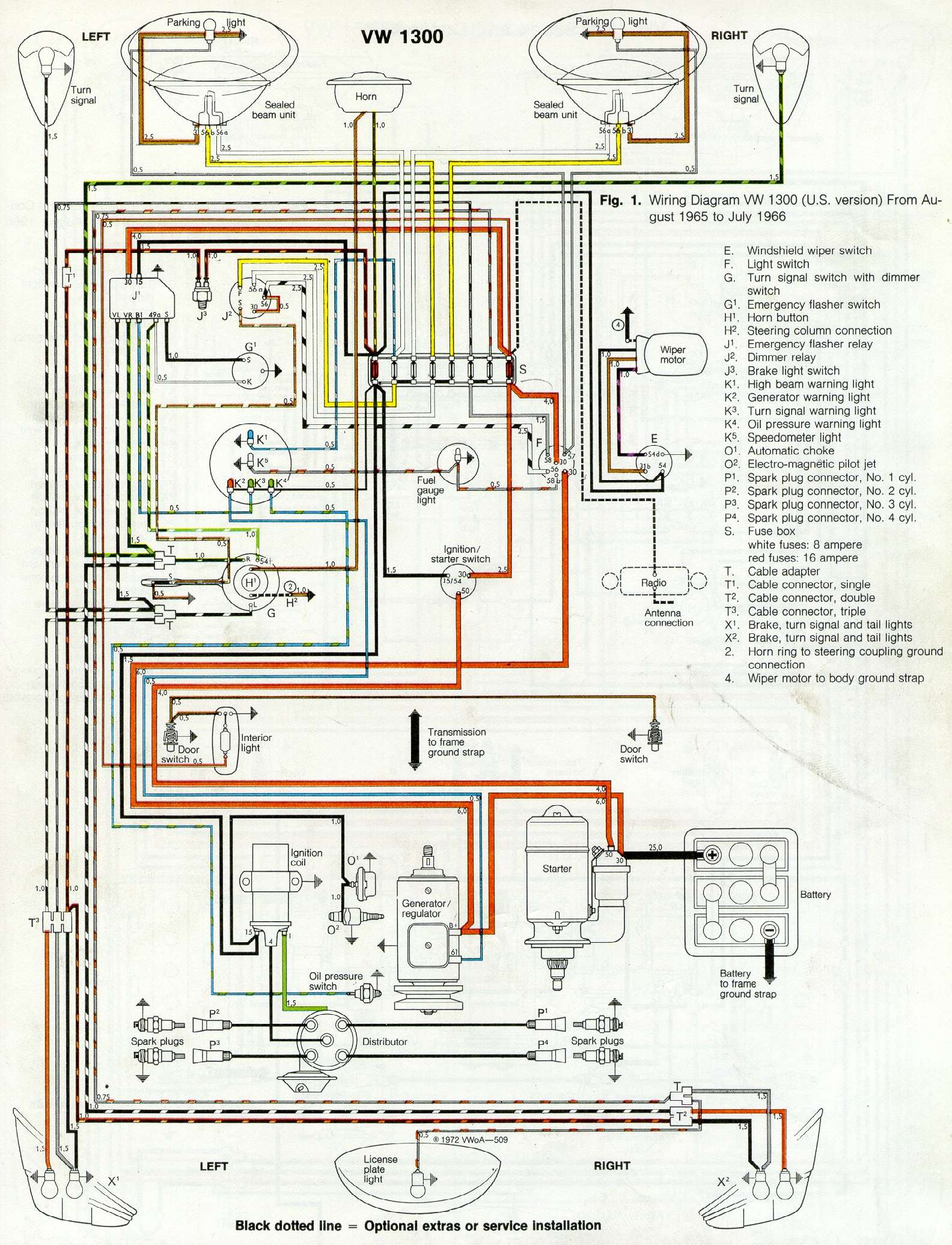Vw Beetle Generator Wiring Diagram Thesamba Gallery Reinvent Your 1981 Super Com 1958 1967 View Topic Hooking Up A Rh 71
