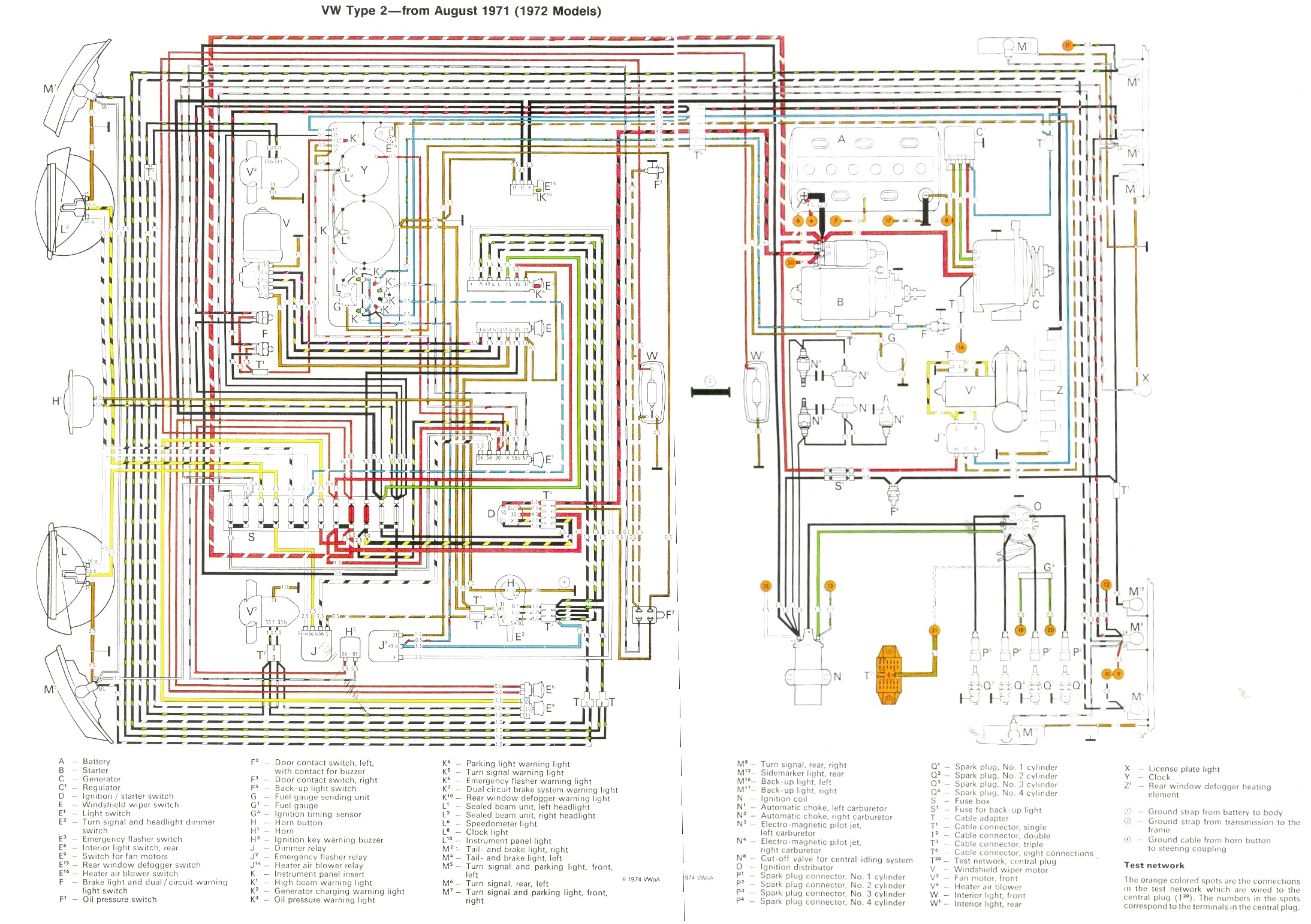 bus 71 72 baywindow fusebox layout vw bus wiring diagram at fashall.co