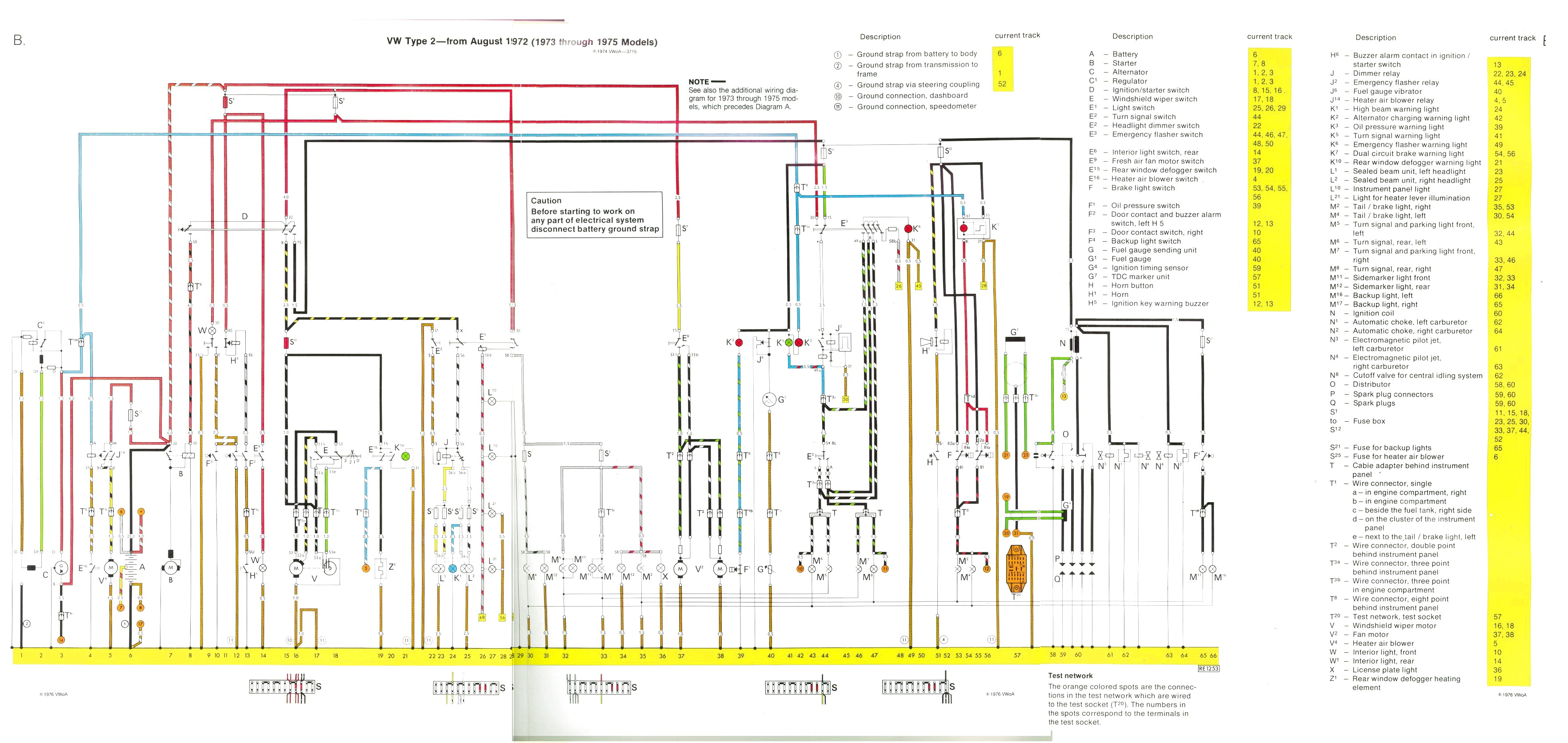 bus 73 75 baywindow fusebox layout 3 Wire Headlight Wiring Diagram at gsmx.co
